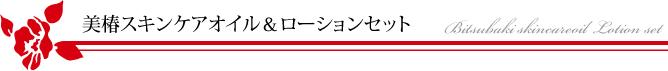 美椿スキンケアオイル&ローションセット